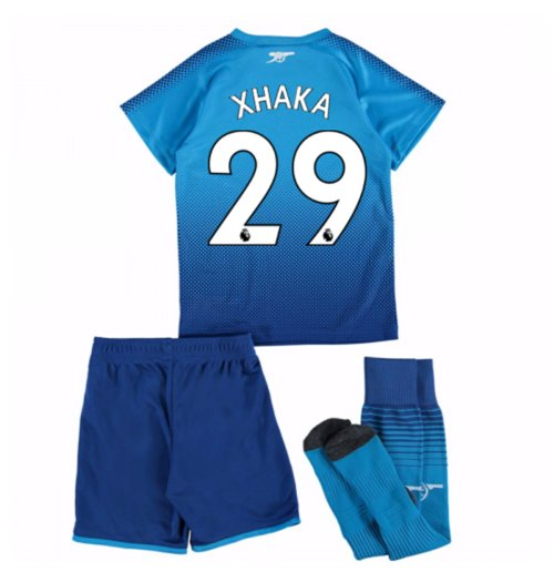 2017-18 Arsenal Away Mini Kit (Xhaka 29)