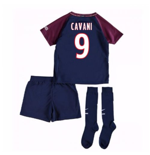 more photos 46e3e 2657e 2017-18 Psg Home Mini Kit (Cavani 9)