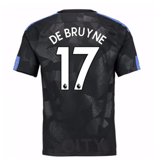 2017-18 Man City Third Shirt (De Bruyne 17) - Kids