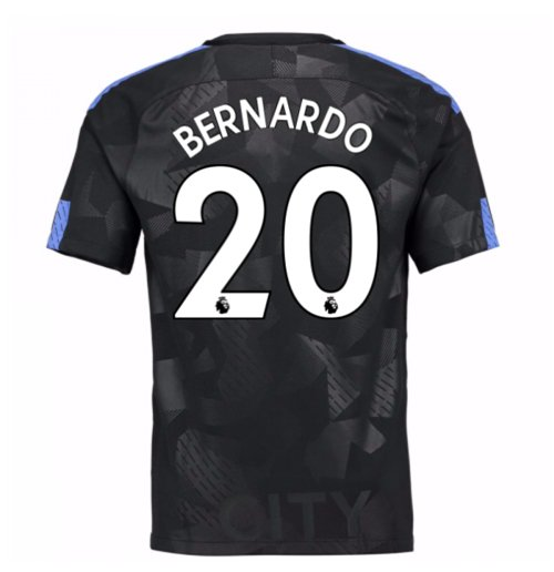 2017-18 Man City Third Shirt (Bernardo 20) - Kids