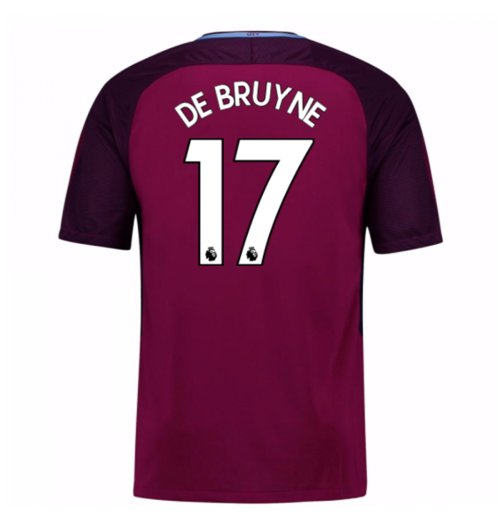 2017-18 Man City Away Shirt (De Bruyne 17) - Kids