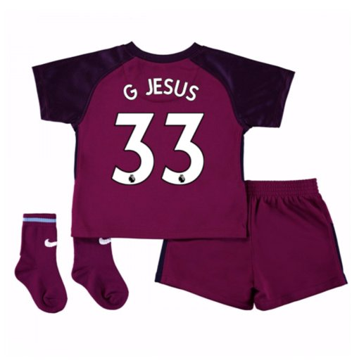2017-18 Man City Away Baby Kit (G Jesus 33)