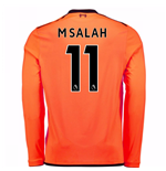 2017-18 Liverpool Long Sleeve Third Shirt (M Salah 11) - Kids