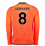 2017-18 Liverpool Long Sleeve Third Shirt (Gerrard 8)