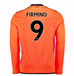 2017-18 Liverpool Long Sleeve Third Shirt (Firmino 9)