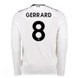 2017-18 Liverpool Away Long Sleeve Shirt (Gerrard 8)
