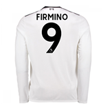 2017-18 Liverpool Away Long Sleeve Shirt (Firmino 9) - Kids
