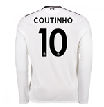 2017-18 Liverpool Away Long Sleeve Shirt (Coutinho 10)