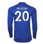 2017-18 Leicester City Home Long Sleeve Shirt (Okazaki 20)