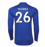 2017-18 Leicester City Home Long Sleeve Shirt (Mahrez 26)