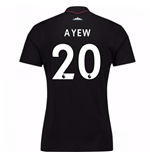 2017-18 West Ham Away Shirt (Ayew 20) - Kids