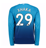 2017-2018 Arsenal Away Long Sleeve Shirt (Xhaka 29) - Kids