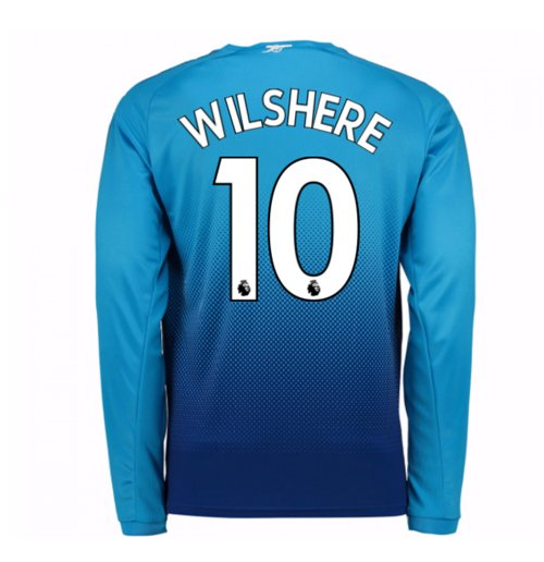 2017-2018 Arsenal Away Long Sleeve Shirt (Wilshere 10) - Kids