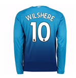 2017-2018 Arsenal Away Long Sleeve Shirt (Wilshere 10)