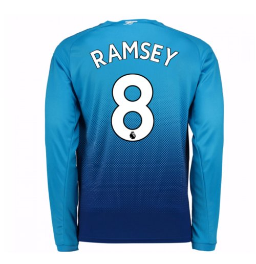 2017-2018 Arsenal Away Long Sleeve Shirt (Ramsey 8) - Kids