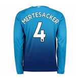 2017-2018 Arsenal Away Long Sleeve Shirt (Mertesacker 4) - Kids