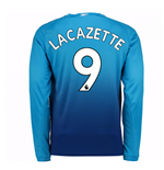 2017-2018 Arsenal Away Long Sleeve Shirt (Lacazette 9) - Kids