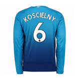 2017-2018 Arsenal Away Long Sleeve Shirt (Koscielny 6)