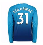 2017-2018 Arsenal Away Long Sleeve Shirt (Kolasinac 31) - Kids