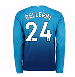 2017-2018 Arsenal Away Long Sleeve Shirt (Bellerin 24) - Kids