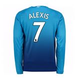 2017-2018 Arsenal Away Long Sleeve Shirt (Alexis 7)