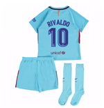 2017-2018 Barcelona Away Mini Kit (Rivaldo 10)