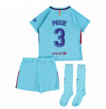 2017-2018 Barcelona Away Mini Kit (Pique 3)