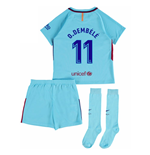 2017-2018 Barcelona Away Mini Kit (O Dembele 11)