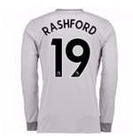2017-2018 Man United Long Sleeve Third Shirt (Rashford 19)