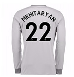 2017-2018 Man United Long Sleeve Third Shirt (Mkhitaryan 22) - Kids