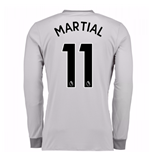 2017-2018 Man United Long Sleeve Third Shirt (Martial 11) - Kids
