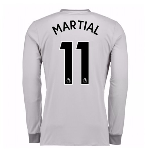 2017-2018 Man United Long Sleeve Third Shirt (Martial 11)