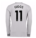 2017-2018 Man United Long Sleeve Third Shirt (Giggs 11) - Kids