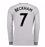 2017-2018 Man United Long Sleeve Third Shirt (Beckham 7) - Kids