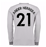 2017-2018 Man United Long Sleeve Third Shirt (Ander Herrera 21)