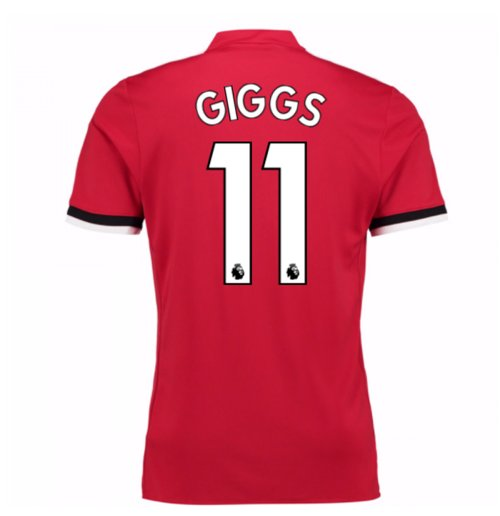 2017-2018 Man United Home Shirt (Giggs 11) - Kids