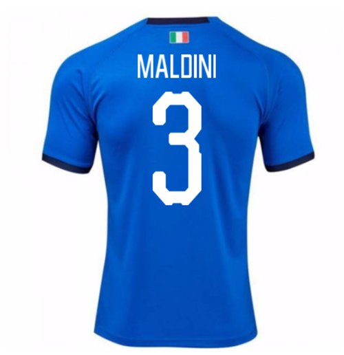 2018-19 Italy Home Shirt (Maldini 3) - Kids