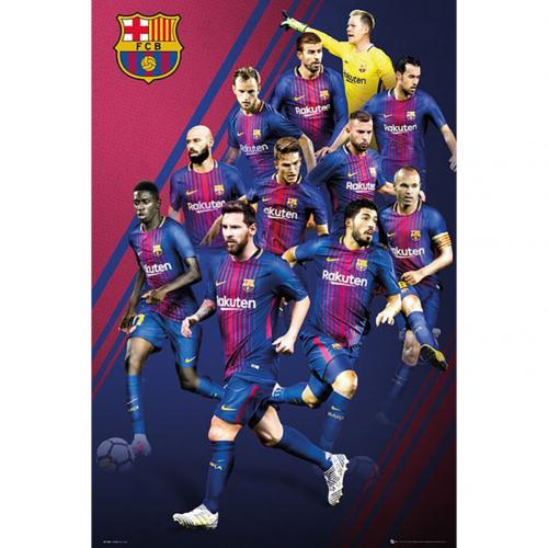 F.C. Barcelona Poster Players 50