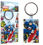 Marvel Comics Metal Keychain Captain America 6 cm
