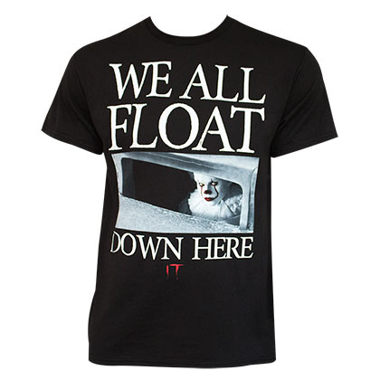 We All Float Down Here IT Black T-Shirt