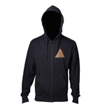 The Legend of Zelda Zipped Sweatshirt - Zelda Golden Triforce