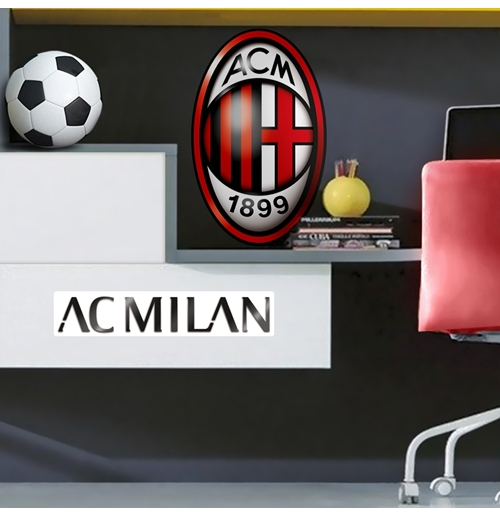 AC Milan Wall Sticker Maxi Logo
