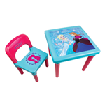 DISNEY Frozen Activity Table & Chair with 30 Piece Creative Stationery Set