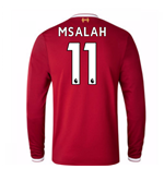 2017-18 Liverpool Home Long Sleeve Shirt (M Salah 11)