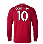 2017-18 Liverpool Home Long Sleeve Shirt (Coutinho 10)
