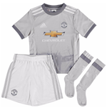2017-2018 Man Utd Adidas Third Little Boys Mini Kit