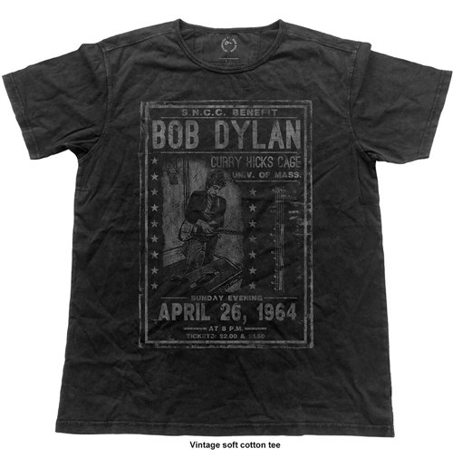 Bob Dylan Men's Fashion Tee: Curry Hicks Cage (Vintage Finish)