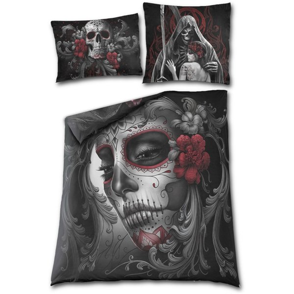 Skull Roses - Double Duvet Cover + UK And EU Pillow case