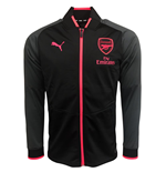 2017-2018 Arsenal Puma Stadium Jacket (Black-Pink)