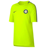 2017-2018 Inter Milan Nike Training Shirt (Volt) - Kids